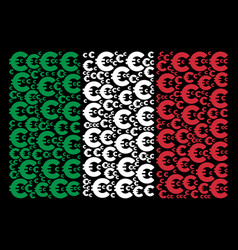 italian flag pattern of euro icons vector image