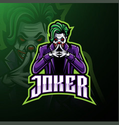 Joker esport mascot logo design vector