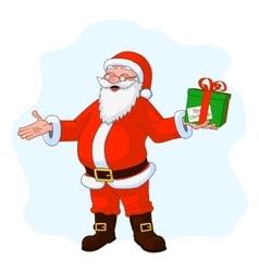 Jolly plump santa claus vector