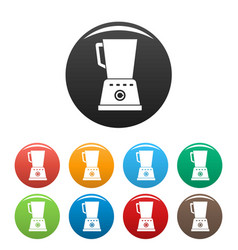 kitchen blender icons set color vector image