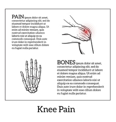 Knee pain Hands holding leg vector