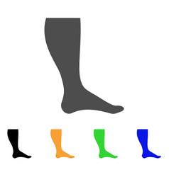 Leg flat icon vector