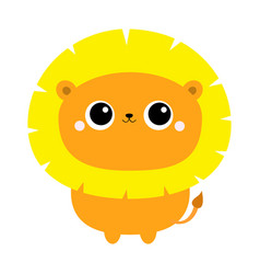 lion toy icon cute cartoon funny character big vector image
