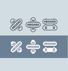 logo with skateboard vector image