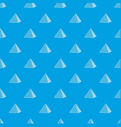 Louvre pyramid pattern seamless blue vector