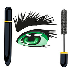 Mascara for brows vector