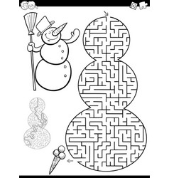 maze or labyrinth game vector image