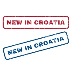 New In Croatia Rubber Stamps vector image