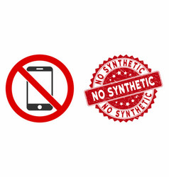 No smartphone icon with distress no synthetic vector