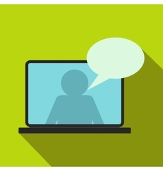 Online chat icon flat style vector image