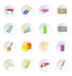 Painter tools icons set vector