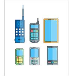 Phone evolution icons Communication telephone vector