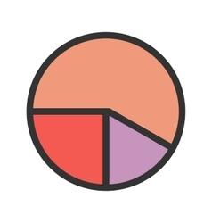 Pie chart analysis vector