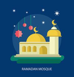 Ramadhan mosque conceptual design vector