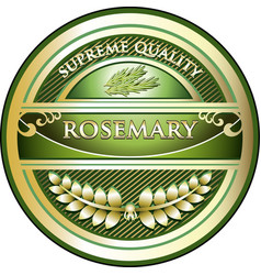 Rosemary gold icon vector