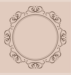 round vintage frame decorative ornament vector image