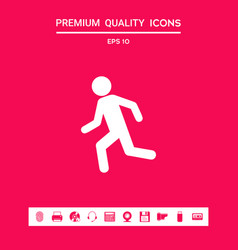 running man run icon graphic elements for your vector image