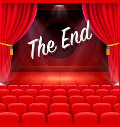 Scene cinema the end background vector