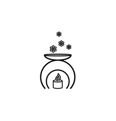scented candle symbol outline icon signs and vector image