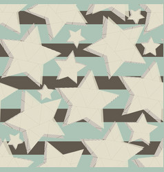 Seamless pattern of stars vector