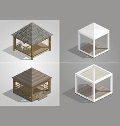 set of four pavilions vector image