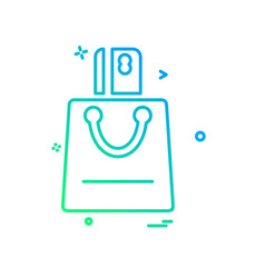 shopping bag icon design vector image