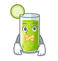 Silent sweet cucumber juice isolated on mascot vector