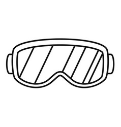ski glasses icon outline style vector image