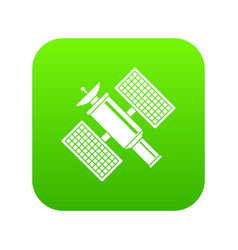 space satellite icon digital green vector image