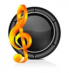 speaker sound background vector image