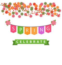 Spring celebrate template design vector