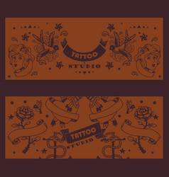 tattoo studio banner graphic vector image