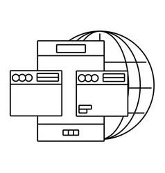 Technology smartphone cartoon vector