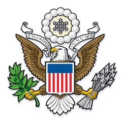 Us great seal bald eagle vector
