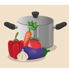 vegetables organic and healthy food design vector image