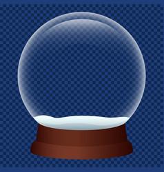 Xmas snowglobe icon realistic style vector