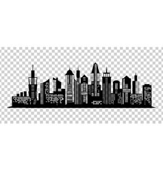 Cityscape black icon on transparent background vector image
