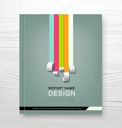 Cover Annual report colorful paper roll concept vector image