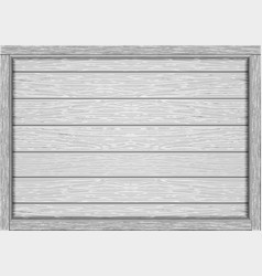 empty frame of wooden white boards vector image vector image