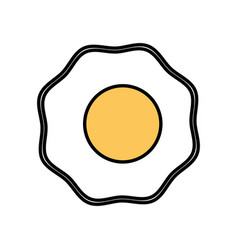 fried egg breakfast food vector image