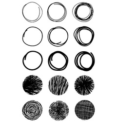 Hand Drawn Scribble Circles Design elements Eps 10 vector image vector image