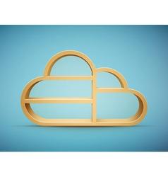 cloud shelf vector image vector image