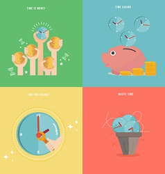 Element of time management concept icon in flat vector image