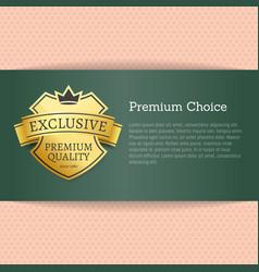 premium choice exclusive on vector image