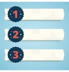 Set of blank banners with steps 1 2 and 3 vector image