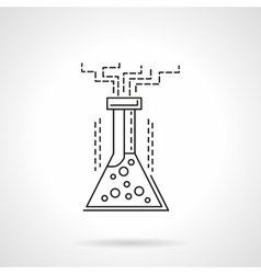Chemical reaction flat line icon vector image vector image