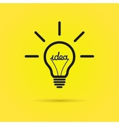 Creative bulb vector