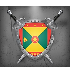 Flag of Grenada Medieval Background vector image vector image