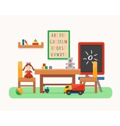 Kids room Kindergarten preschool playground vector image