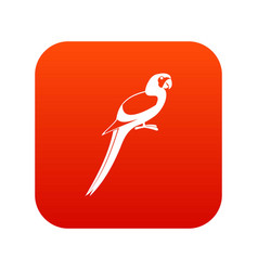 parrot icon digital red vector image vector image